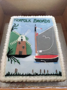 A Norfolk Broads inspired cake
