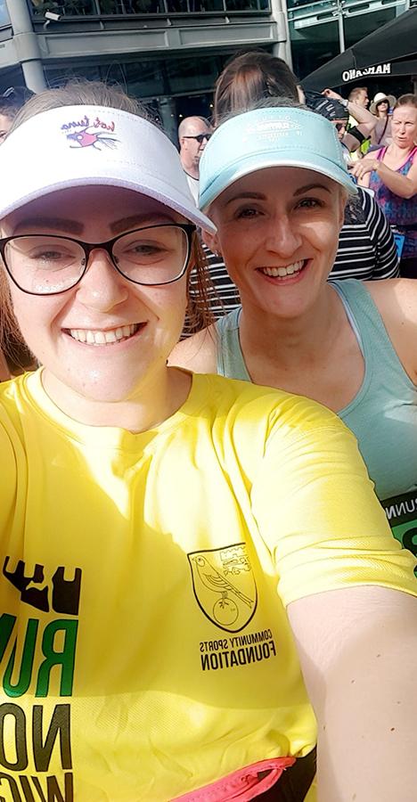 Bryony & Helen pre-race pic