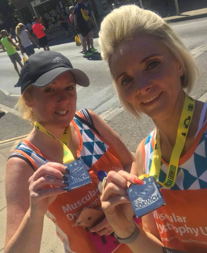 Ness and Natalie completed Run Norwich